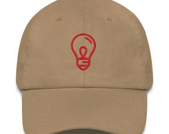 Minimal Light Bulb Dad Hat