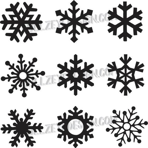 9 unique snowflakes vector snowflakes eps snowflakes svg