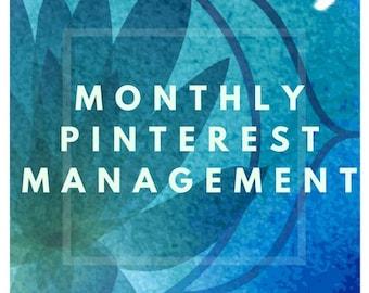 Pinterest Marketing - Monthly Management - Social Media Manager- Pinning Services - Social Media - Marketing - Virtual Assistant - Pinterest
