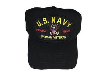USN United States Navy Woman Veteran Hat Cap