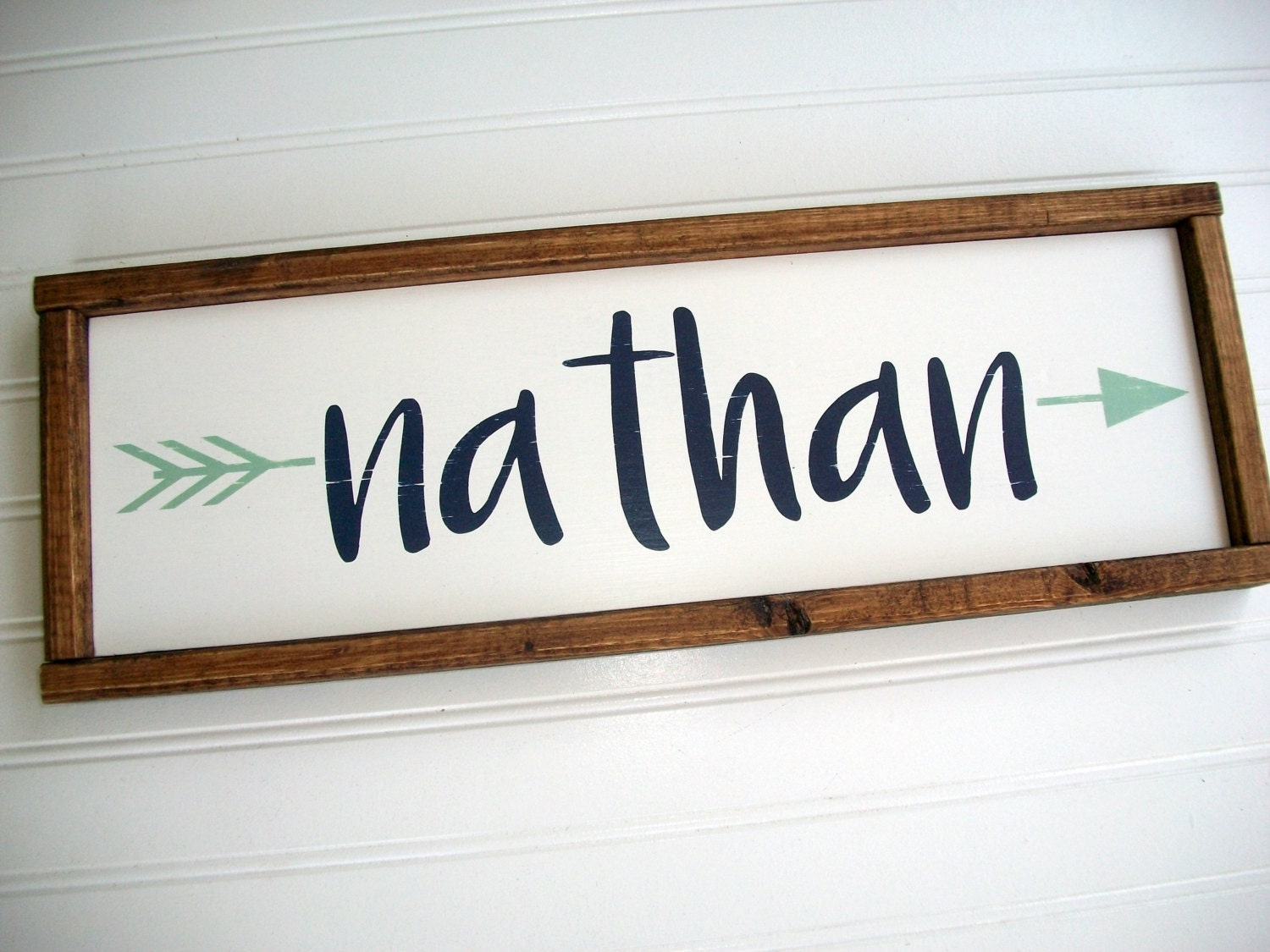 Rustic Name Sign Tribal Nursery Decor Custom Baby Sign