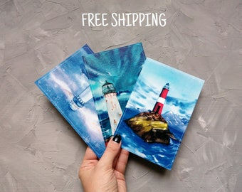 Lighthouse Postcards set Lighthouse postcard Watercolor print Postcrossing Art postcards Set of postcard Landscape painting