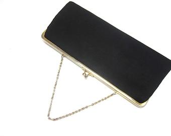 Black Evening Purse Handbag Clutch
