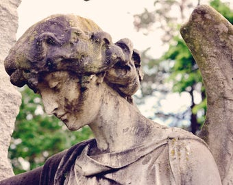 Cemetery Angel Art Photograph, cemetery art, gothic angel, photography
