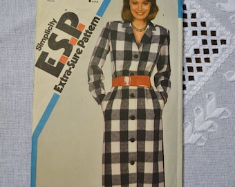 Simplicity Sewing Pattern 6161 Misses Button Front Dress Size 16 18 20 Fashion Clothing DIY Sewing  PanchosPorch