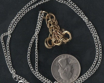 Brass Chainmail Thors Hammer Pendant Jewelry