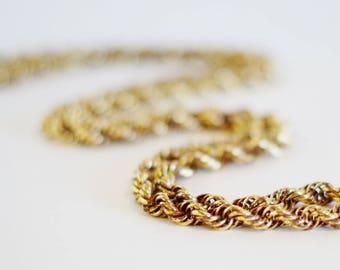 Vintage Interlocking Spiral Chain Necklace