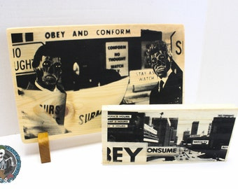 They Live - Propaganda - Screen Print on Wood - Complete limited set - numbered and signed
