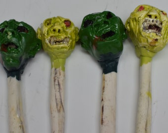 Martini Drink Zombie Stirrers set of 4