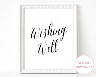 Wishing Well Sign, Guestbook Sign, Wishes Poster, Well Wishes Sign, Wishing Well Poster, Wedding Wishes, Marriage Guest Book Sign Printable