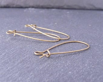 10 great hooks for earrings 33 mm x 14 mm - bronze (BO0116)