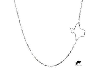 Custom personalized side state necklace sterling silver pendant any state handmade pendant on 925 silver