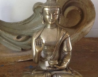 Tibetan brass Buddha