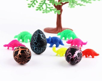5 PC Dinosaur Eggs - Dino in egg Watch them hatch Toy Dinos Party Supplies Birthday DE040418