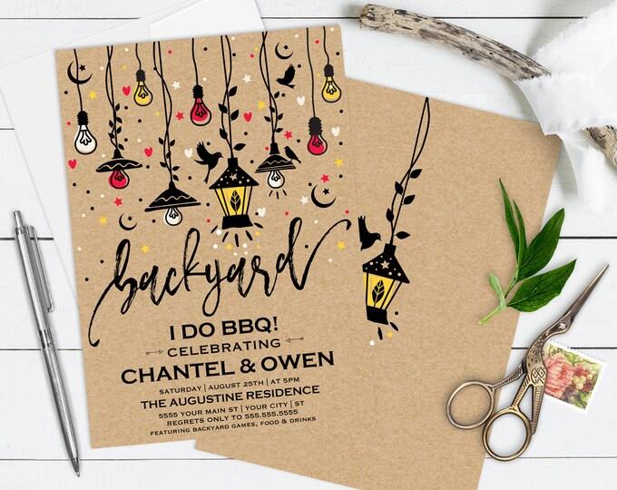 Backyard Engagement Invitation, Engagement Invitation, Engagement Invite, I Do BBQ | Editable Text - Instant Download PDF Printable