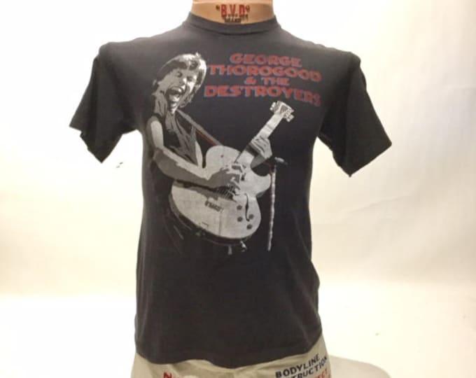 Vintage George Thorogood & Destroyers Tour Tee Shirt 1985 (os-ts-81)