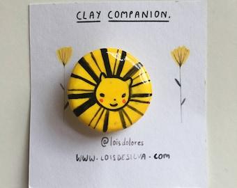 Clay Companion Badges - Lion