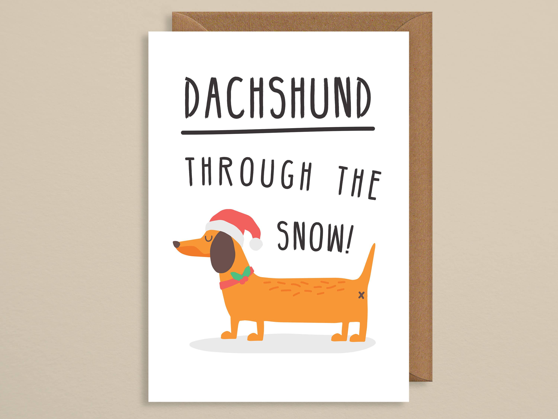Christmas card funnyg christmas carddachshund through the zoom kristyandbryce Image collections