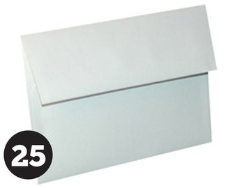 A7 Envelopes for 5 x 7 Invitations, Photos  and Cards, White, Pack of 25