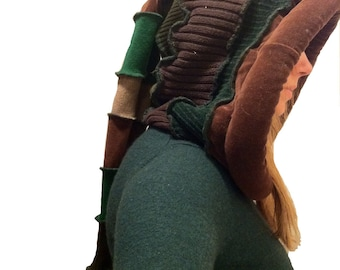 Tutorial  reconstructed upcycled  Elf style hoodie