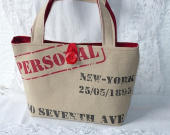 Handbag color burlap
