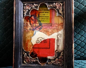 "Original mixed media small painting ""untitled diary"" 151"