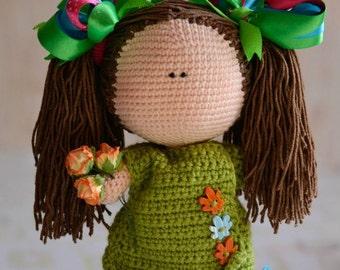 Crochet PATTERN doll 22 cm