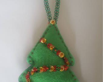 Christmas Tree Ornament Sewing Kit, Christmas Tree, Gift