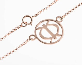 Dainty meaningful bracelet jewelry- symbol of strength and hope - comes in sterling silver, 18ct gold and rose gold plated - gift for friend