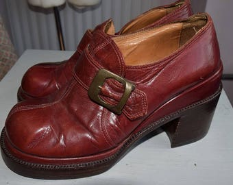 1970's Handmade Platform Shoes,  by Barkers of London UK 4.5