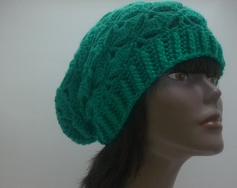 Turquoise  Crochet Slouch Hat  Ribbed Headband and lace Gift for women under 30 dollars