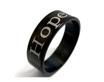Stainless Steel Hope Ring