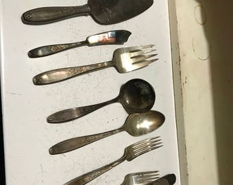 41 Pc. Vintage Rogers Brothers Silverplate Flatware
