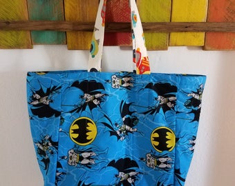 Batman Tote/Grocery Bag; Car Themed Everyday Tote/Bag; Batman Comic; Car Themed Tote; Kids Tote; Baby Shower; Washable