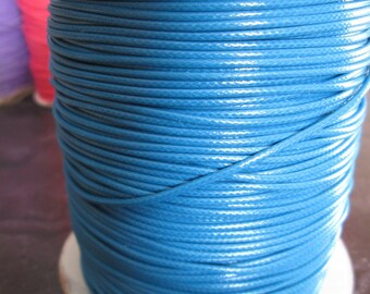 Blue waxed cord dangles 1.5 mm in diameter