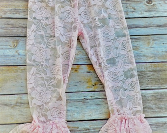 Light pink lace tights