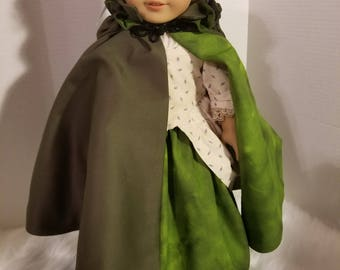 AG 1700's Style Gown and Cape