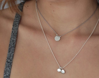 PERSONALISED CHARM PENDANT Necklace in sterling silver by jac and hugo Sydney Australia
