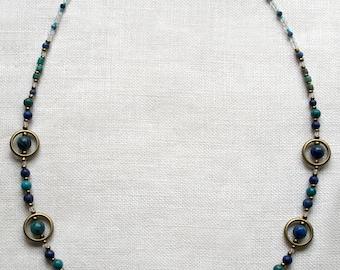 Necklace Art deco blue - Art Deco Necklace