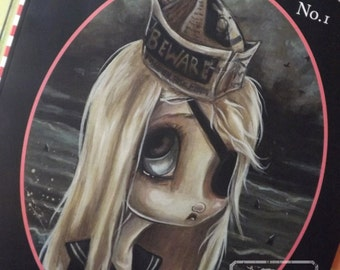Adult Coloring book Misfits fantasy lowbrow art big eye girls