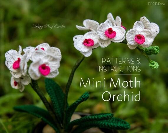 Small orchid flower pattern crochet flower pattern crochet ccuart Gallery