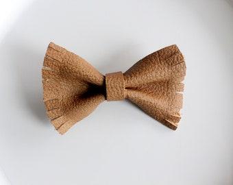 Leather hair bow