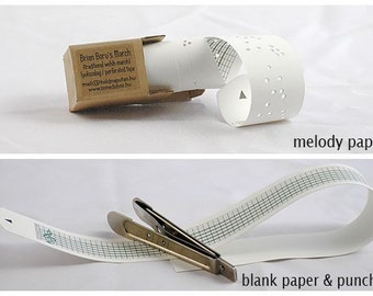 Tune melody paper - blank paper - puncher for custom music by wooden music box