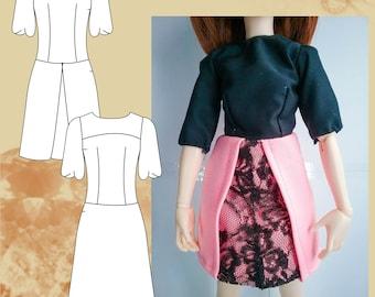 Sewing pattern dress, women dress, puff dress pattern, long sleeve dress size 36/44 PDF download