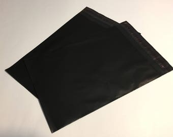 25 9x12 BLACK Poly Mailers Self Sealing Envelopes Shipping Bags Halloween
