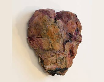 Heart BlueBerry Scone On The Wall a Faux Stone Sculpture Natureshaper Oregon