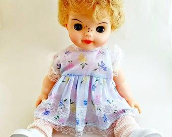 Allied Eastern Blonde Short Hair Freckled Vintage Doll