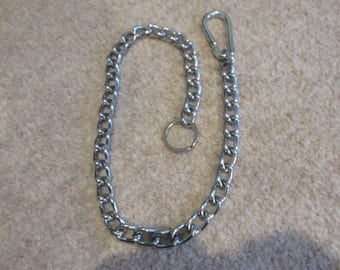 """Wallet Chain *Hipster Biker Goth Metal Fan* 20"""" with Carabiner and Keyring"""