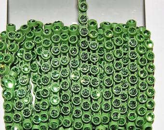 Green Peridot Crystal Rhinestone Banding Seattle Seahawk Green 1 meter