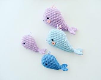 Crochet Whale Family, Pattern, PDF, English and Dutch
